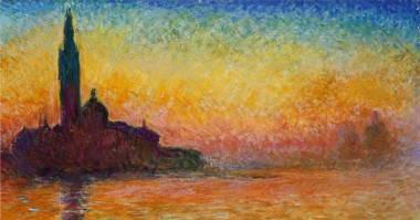 Detalle de 'Crepúsculo en Venecia' (1908) de Claude Monet
