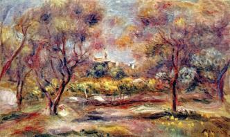 'Paisaje en Grasse' (1911) de Pierre Auguste Renoir